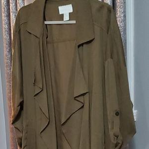 H&M Tops - H&M CONSCIOUS asymmetric oversized blazer size M